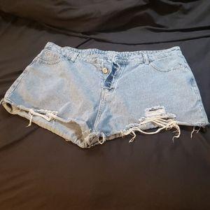 Plus size high waisted shorts